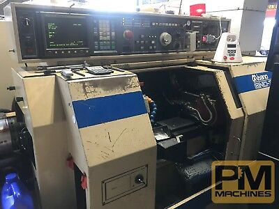 Miyano BNC-34T2-CNC Lathe-Fanuc 0-T -parts catcher, mist collector, tooling