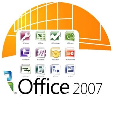 Office 2007 Full Version  Word Excel Outlook  Power Point One Note Publisher 5Pc