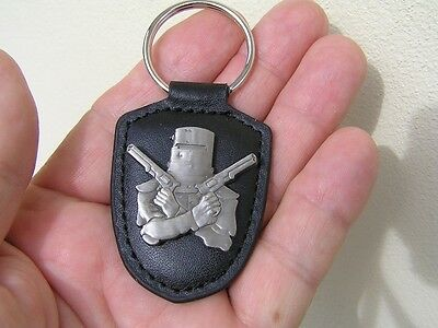 NED KELLY KEY RING ANTIQUE SILVER BADGE *NEW!* Suit Harley Davidson Key Chain