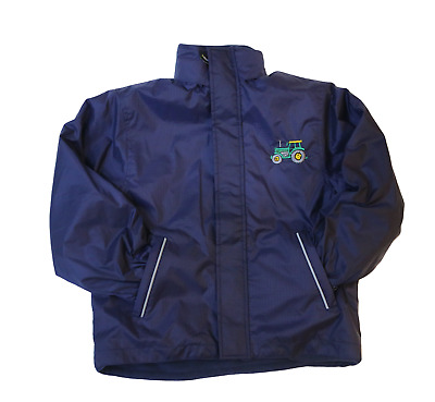 British Country Collection Childs Farmyard Fleece LINED Jacket - Navy Blue