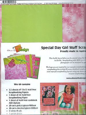 """AED - Special Day Girl Stuff 12""""x12"""" - Scrapbooking Kit  - SK01-180"""