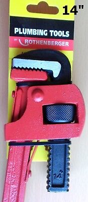 "Genuine  Rothenberger Pipe Wrench Heavy Duty Stillson 14"" - 350mm"