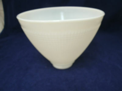 "Vintage Torchiere Diffuser Milk Glass Waffle Pattern Lamp Shade 2"" Fitter x 8"""