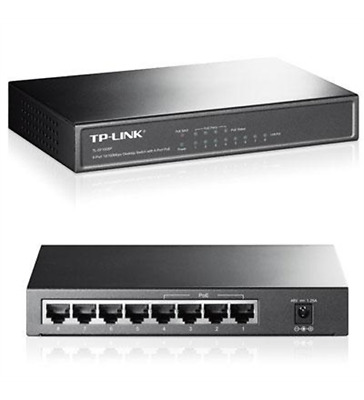 NEW TP-LINK TL-SF1008P 10/100Mbps 8-Port Fast Desktop POE Switch with 4 Ports -
