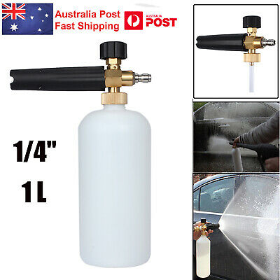 1L Snow Water Foam Lance Cannon+ 1/4'' Quick Connect Adapter Pressure Washer Gun