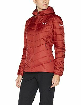 Salewa Fanes Triwool CLT Hooded Jacke, Giacca Donna, Rosso, 44