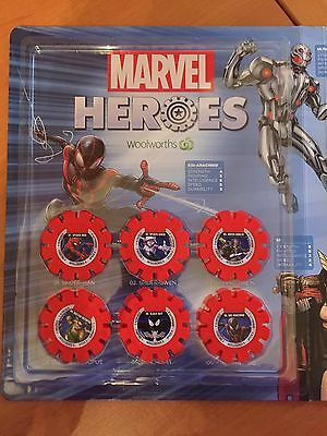 Woolworths Marvel Super Heroes Discs Full Complete Set 1-42 Without Album