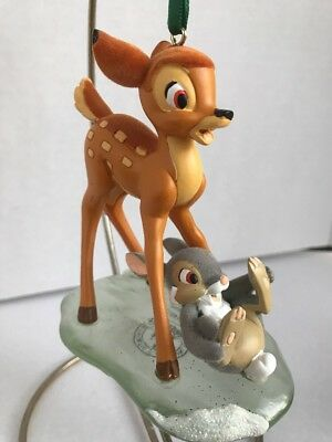 Disney Parks BAMBI & THUMPER ON ICE   Christmas Holiday Figurine Ornament NEW