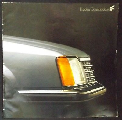 1978 Large Gmh Holden New Commodore Car Series Brochure Very Good Condition