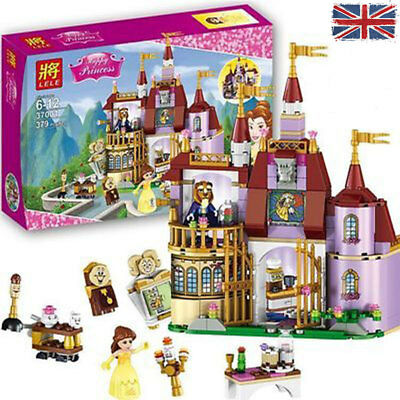 Beauty and the Beast Belle Princess Assemble Castle Blocks Toys DIY Toy Xmas