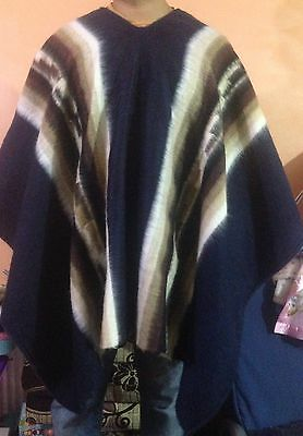 Luxury Inka Treasure Alpaca Wool Poncho-Cape, Handmade, Unisex. Warn & Softness