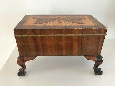 Vintage/Antique Wooden Box Inlaid With Butterfly
