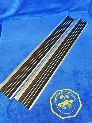 Corvette C3 Parts Sill Plate-Door-Import- Pair -68-77 (#e3087)