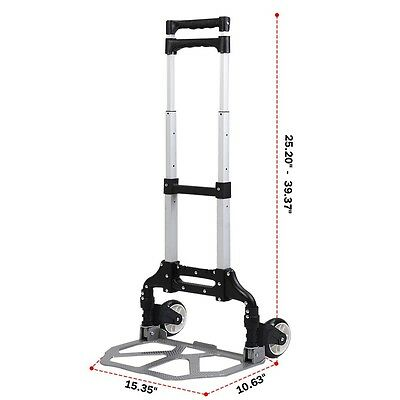 Convertible Hand Trucks and Dollies Mooving Collapsible Folding Two Wheel Cart