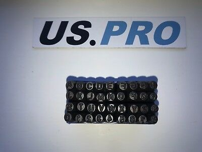 US PRO 36pc 4mm Letter And Number Punch / Metal Stamp Security Marker Set 2049