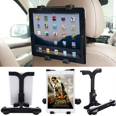 Universal Car Mount Seat Headrest Holder For iPad Samsung Android Tablet 7-10""