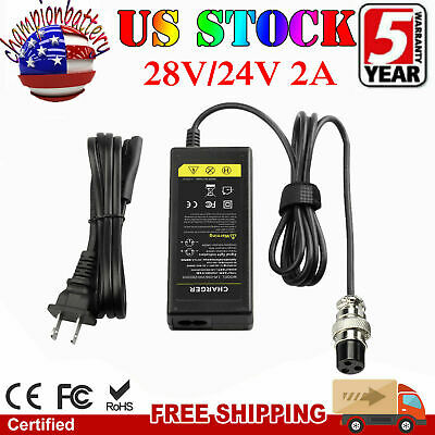 NEW 24 Volt 2A Battery Charger For Razor Electric Scooter 24V US