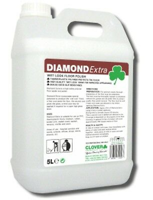 Diamond Wet Look Gloss Non-Slip Floor Polish Sealer Wooden Vinyl Marble Laminate