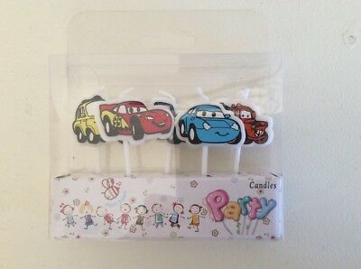 5 x Cars Candles Birthday Cake Toppers Party Chase Rubble Sky Ryder