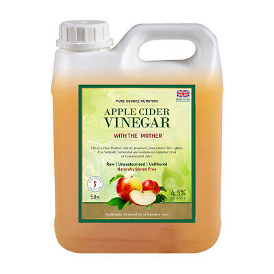 ORGANIC RAW Apple Cider Vinegar with Mother Applecider Weight Loss Detox