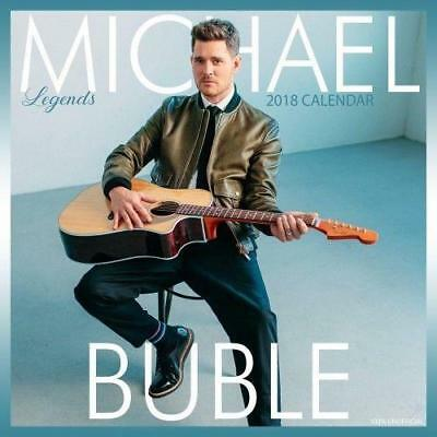 MICHAEL BUBLE 2018 CALENDAR SQUARE (30cm x 30cm ) WALL NEW + PULL OUT POSTER