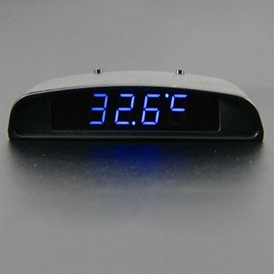 12V 3 In 1 Car Auto Digital Clock Thermometer Battery Volt Monitor Meter