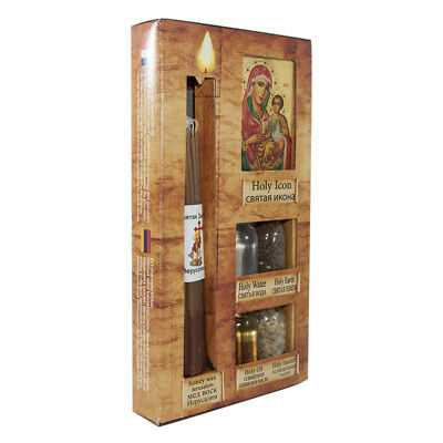 Blessed Pilgrim Set from Holy Land Oil + Water + Soil + Insence + Candle + Icon