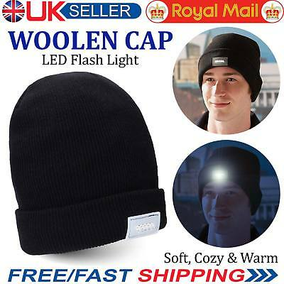 a8238b890e2 LED Beanie Hat With 5 LED Torch Light One Size Camping Cycling Outdoors Gift