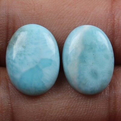 Royal 15x11 mm Real LARIMAR Cabochon 1 Pair Oval Gemstone 12.0 Carats eBay Store