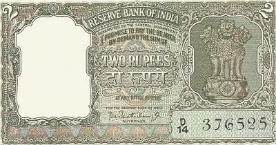 India 2 Rs. Olive Green Notes (9 Notes)