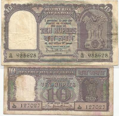 INDIA RUPEES 10 (2 different Notes)