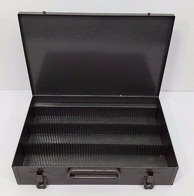 Excelsior Steel Slide Box Holder Carrier Holds 150 Slides