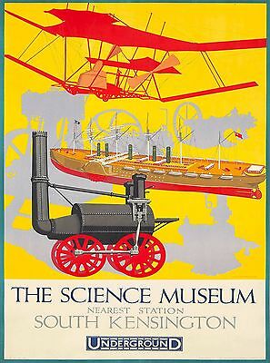 Science Museum London Underground England Travel Advertisement Poster