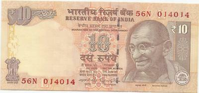Fancy No. Of 10 Rupees Of India - (4 Notes)
