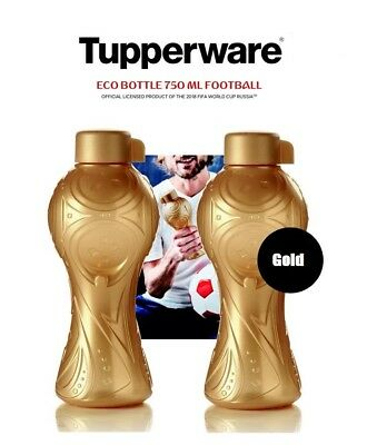 Tupperware® Gold Eco Bottle 750ml Football ** 2018 FIFA World Cup Russia **
