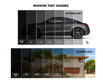 """Uncut Window Tint Roll 5%  VLT 24"""" in 50ft feet Home Commercial Office Auto Film"""