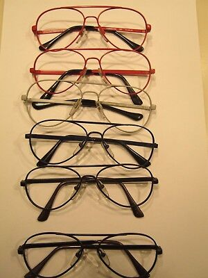 Vintage Metal Aviator Frames, Small Adult or Child.45/16 to 49/15. One 56/20.
