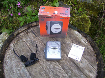 Rare Collectable Tamashi Portable Stereo Cassette Player. Boxed with Headphones