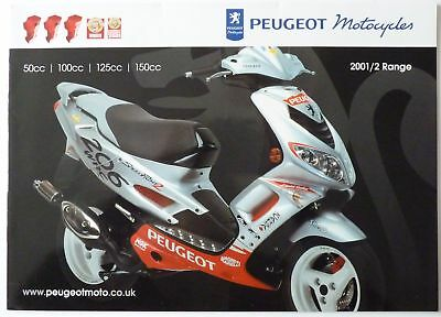 Peugeot Motorcycles 2001/2 Range of Motorcycles/Scooters