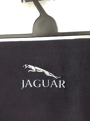 Soft feel Fleece Scarf with Jaguar Design in Silver and Black Embroidery