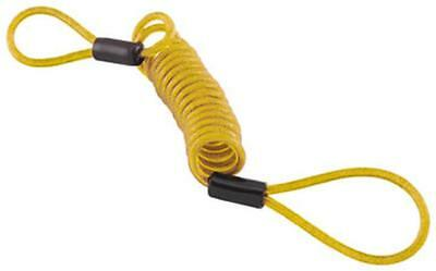 New Bully Locks Disc Lock Reminder Cable Motorcycle Security, Yellow,