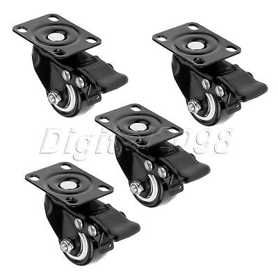 Replace Furniture Shopping Carts Trolley Plate Caster Wheel with Brake 1.5 inch