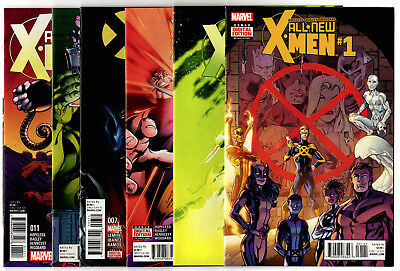 All New X-Men #1, 4-5, 7-8, 11-12, 14-16, 18-19 (2016) Marvel VF/NM to NM- Lot