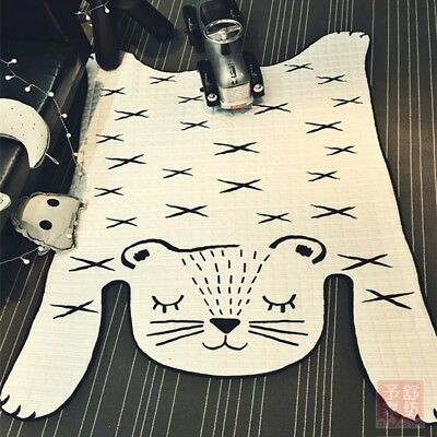 Baby Carpet Animal Playing Mat Living Room Cotton Infant Floor Crawling Pad Rug