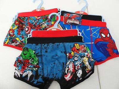 6 x Matalan Boys Boxer Trunks 4 - 5 Years  New w/ Tags Marvel Spiderman