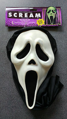 Scream Ghost Face Mask With Purple Header Card Licensed 39206 ***Defective***