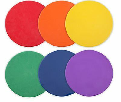 Champion Sports 10 Inch Poly Vinyl Spot Markers for Drills and Training,  ..