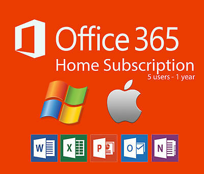 Microsoft office 365 home Home Student Microsoft Office 365 Home Subscription 5user Year Windowsmac Pc Picclick Microsoft Office 365 Home Subscription 5user Year Windowsmac