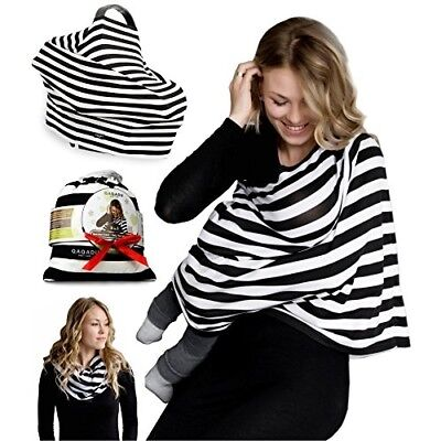 Nursing Breastfeeding Cover Scarf - Baby Car Seat Canopy, Shopping Cart, Strolle