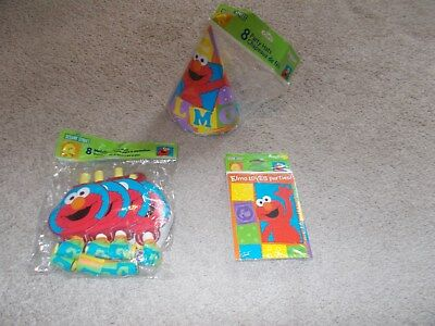 Elmo Party Set with Cards, Invitations, & Medallion Blowouts.
